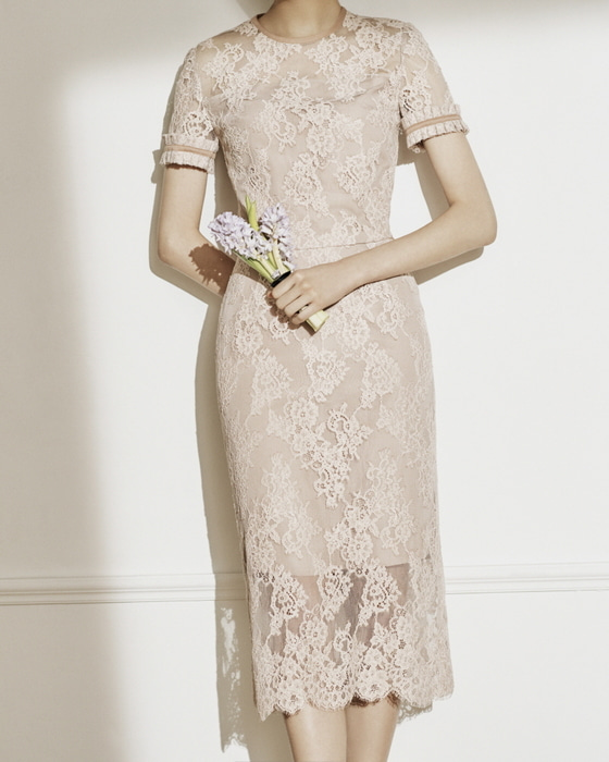 CATHERINE lace separates (Nude pink)
